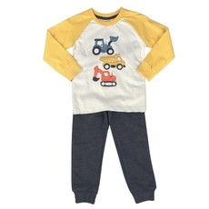 CONSTRUCTION OATMEAL TOP WITH CHARCOAL TERRY PANT
