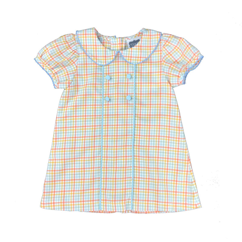 TRUE PIPED CHEST DRESS - FALL PASTEL PLAID
