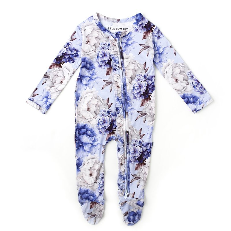 LITTLE BUM BUMS WORTH EVERY PEONY RUFFLE FOOTIE
