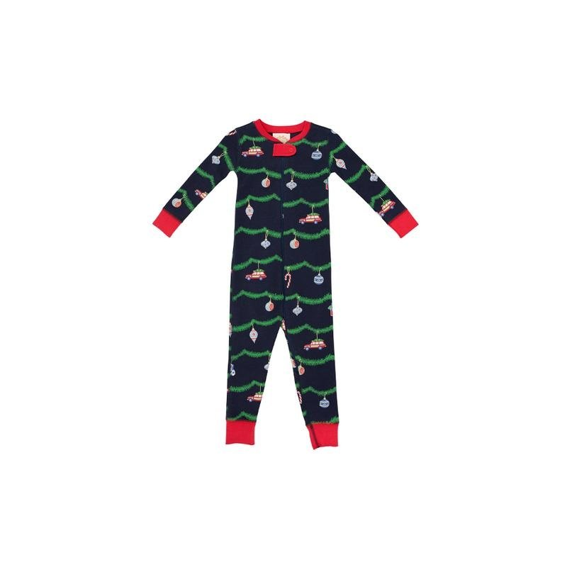 THE BEAUFORT BONNET COMPANY KNOX'S NIGHT NIGHT FOOTED - DECK THE HALLS/RCHMND RED