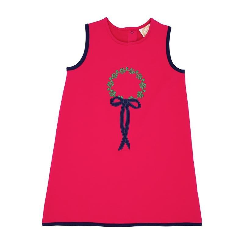 THE BEAUFORT BONNET COMPANY ANNIE APRON DRESS - WREATH EMB