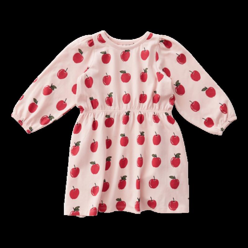 PINK CHICKEN HADLEY DRESS - STRAWBERRY CREAM APPLES