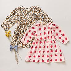 PINK CHICKEN HADLEY DRESS - LEOPARD