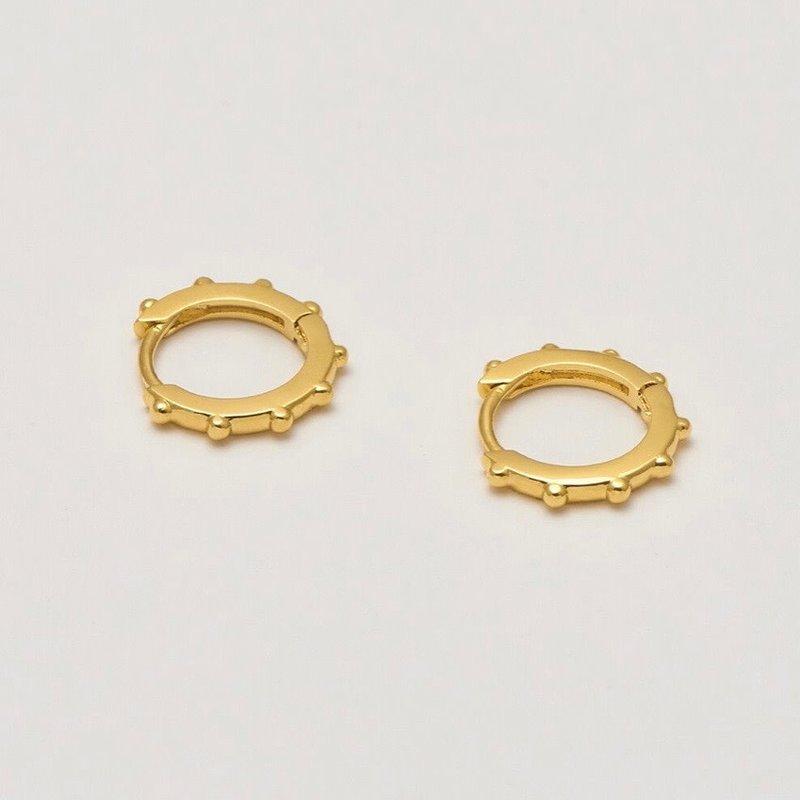 ESTELLA BARTLETT GRANULATED HUGGY EARRINGS - GOLD PLATED
