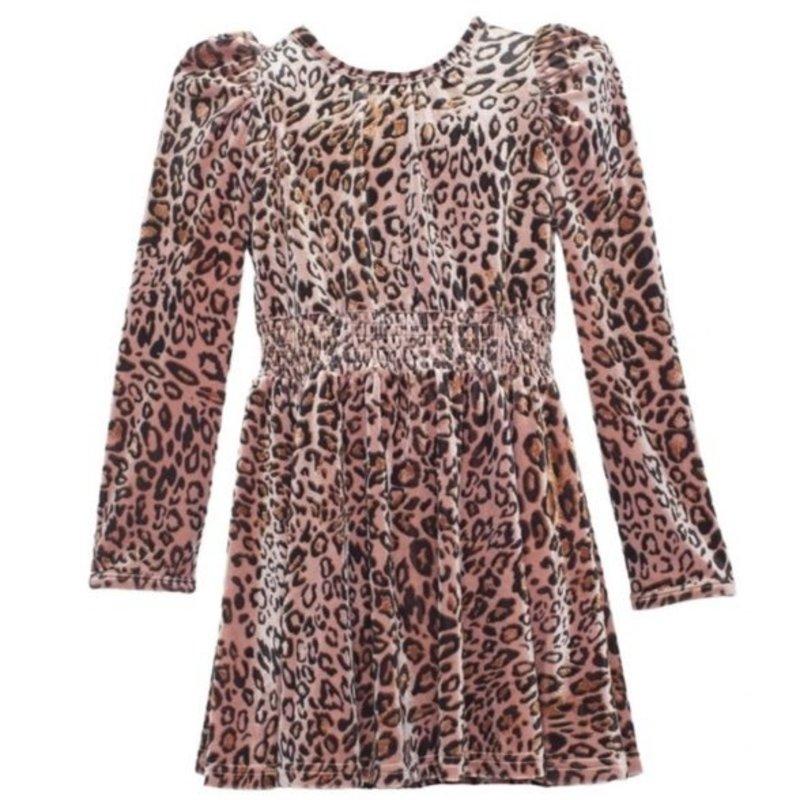 ISOBELLA & CHLOE WILD THING VELVET DRESS - PINK