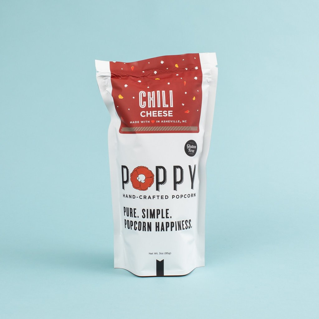 POPPY HANDCRAFTED POPCORN CHILI CHEESE - MARKET BAG