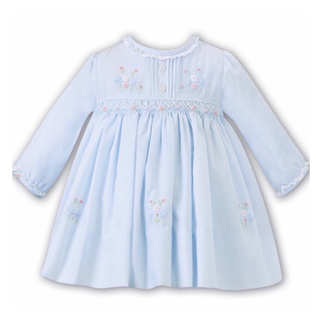 SARAH LOUISE 012454 BLUE DRESS