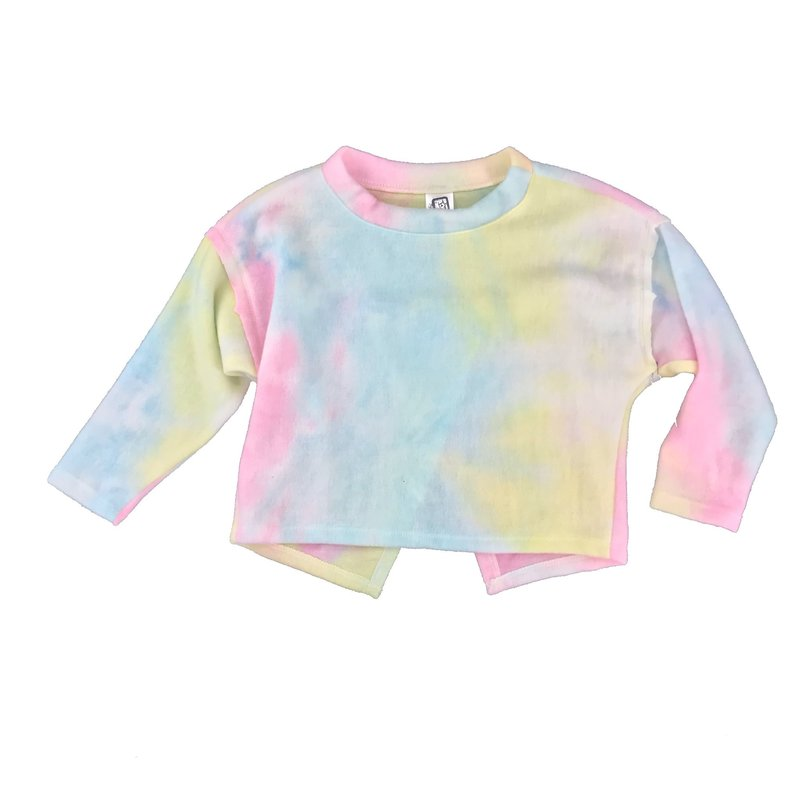ERGE TIE DYED HACCI TOP - ELECTRIC