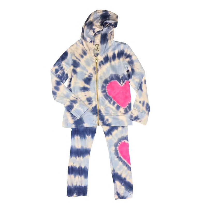 ERGE HEART TIE DYED JACKET AND LEGGING