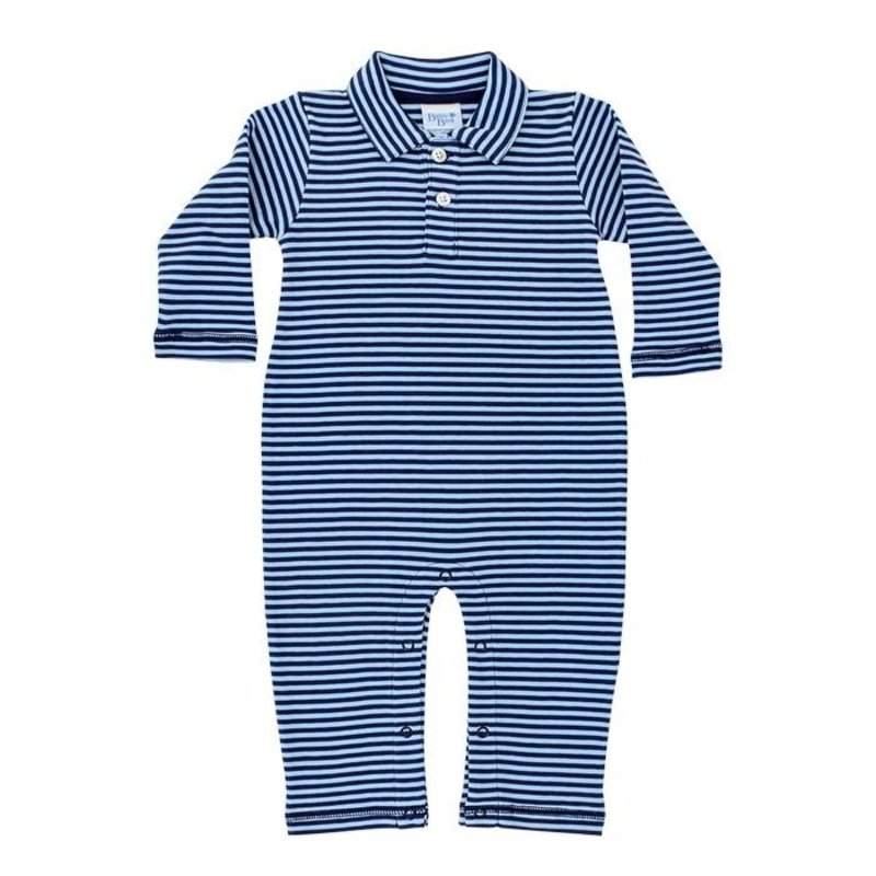 BAILEY BOYS KNIT COLLAR LONGALL - NAVY/BAYBERRY STRIPE