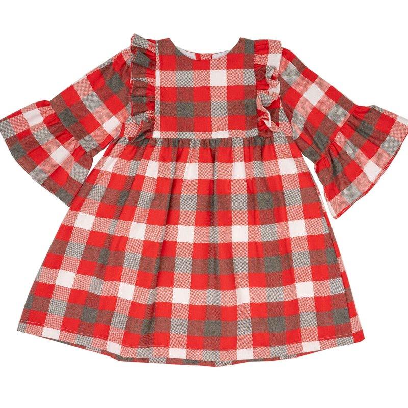 THE OAKS APPAREL COMPANY SARAH BETH RED GREY DRESS
