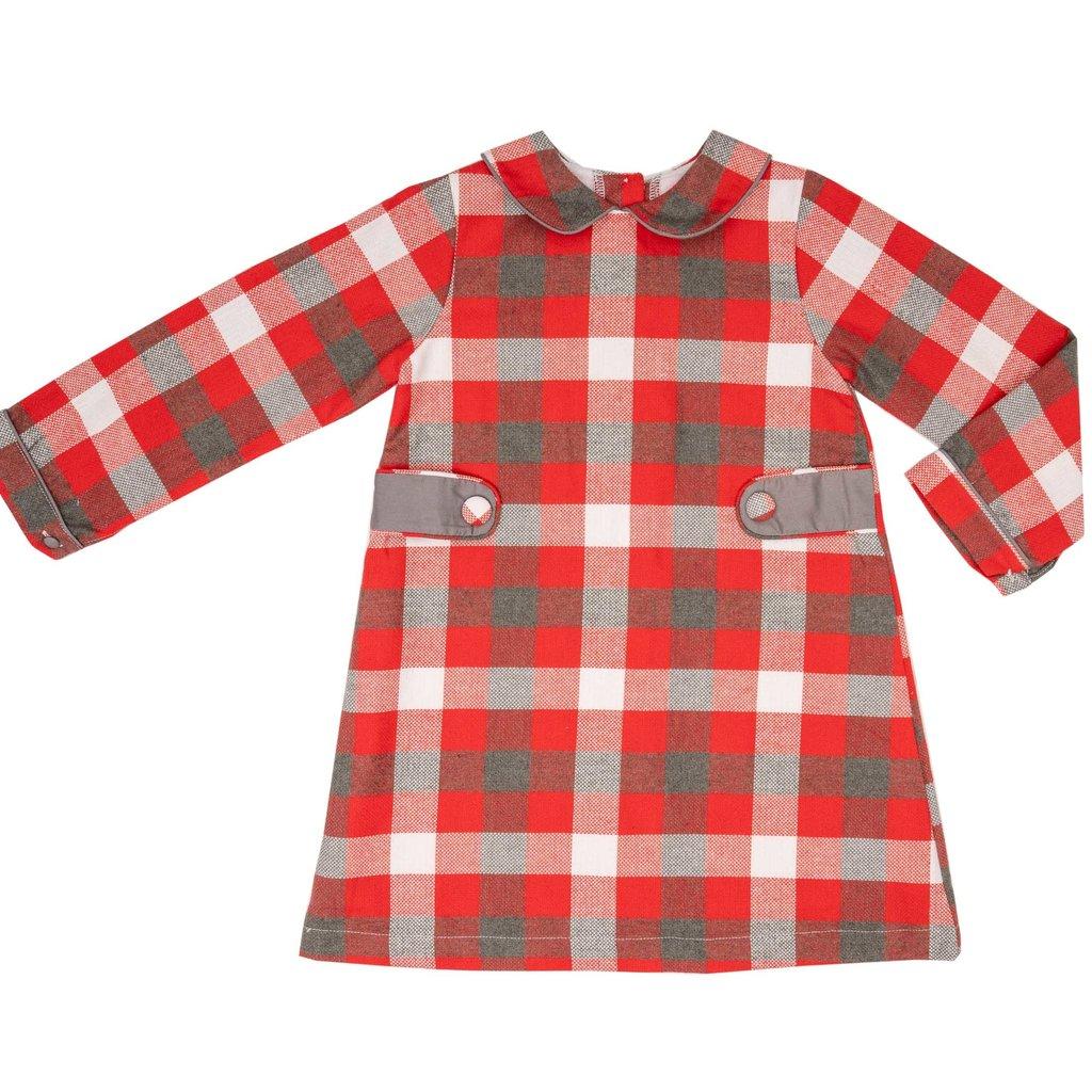 THE OAKS APPAREL COMPANY ANNIE RED GREY DRESS