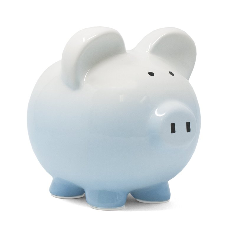 CHILD TO CHERISH BLUE OMBRE PIG BANK