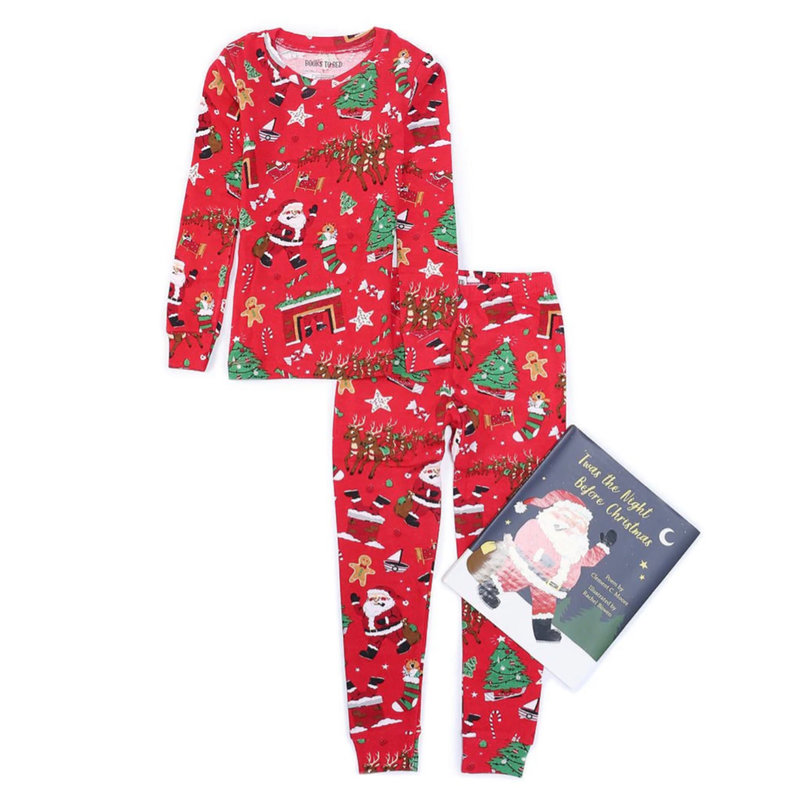 BOOKS 2 BED TWAS THE NIGHT BEFORE CHRISTMAS PJS & BOOK