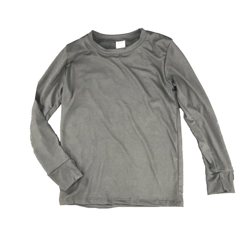 ERGE SOLID DTY L/S TOP - BLACK