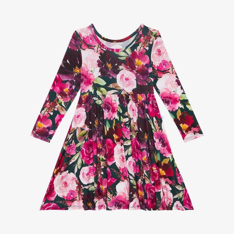 POSH PEANUT ZELDA - L/S BASIC TWIRL DRESS