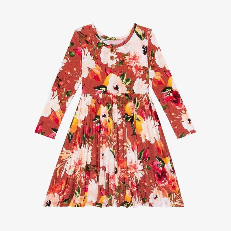 POSH PEANUT LEONORA - L/S HENLEY TWIRL DRESS