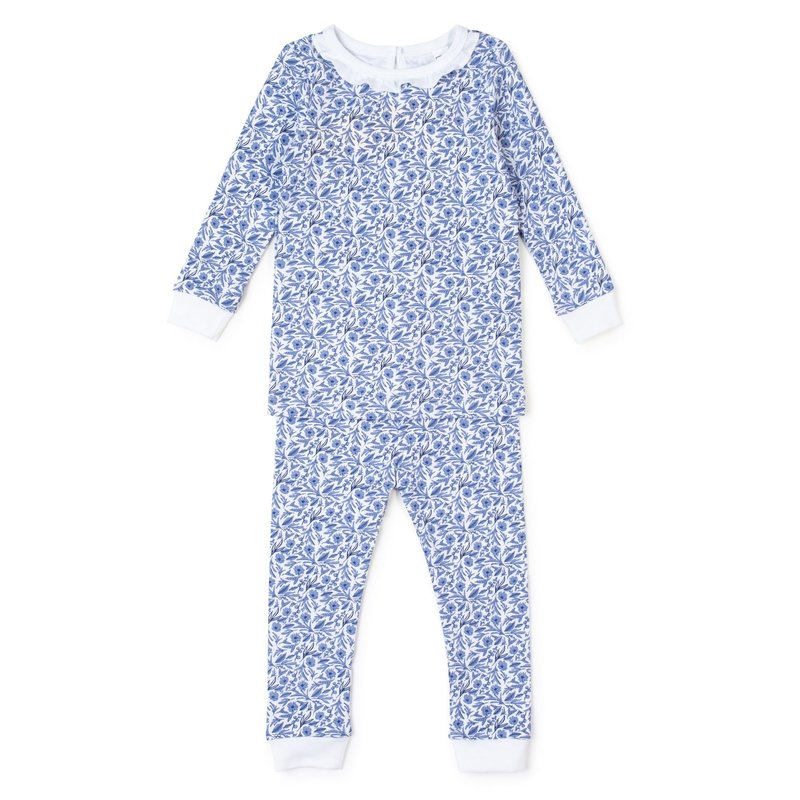 LILA AND HAYES AVA PAJAMA SET - BLUE BLOOMS