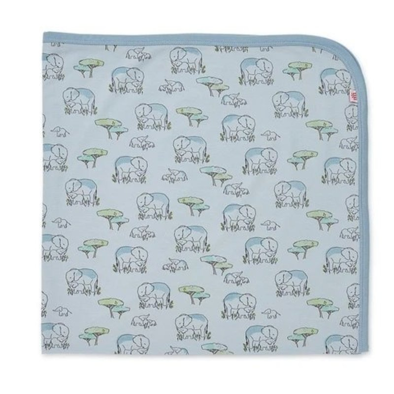 BLUE LOVE YOU A TON MODAL SWADDLE BLANKET