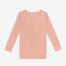 POSH PEANUT DESERT ROSE WAFFLE - LS BASIC PAJAMA