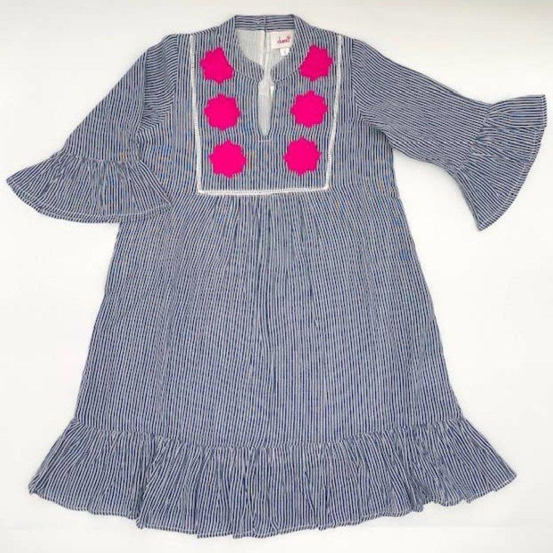 ROSE GREY STRIPED DRESS