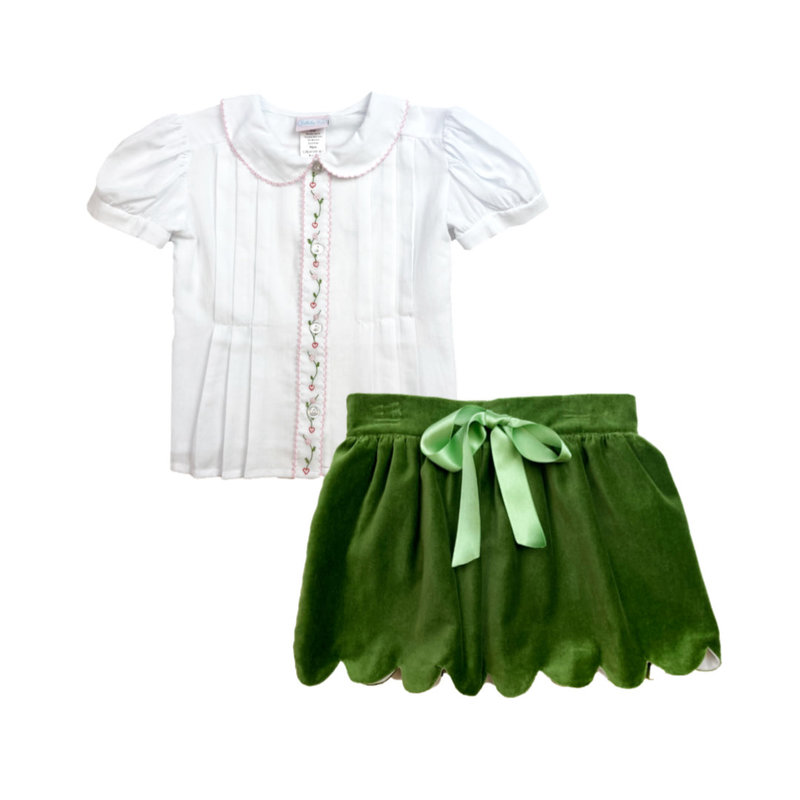 LULLABY SET VINTAGE BLOUSE AND SCALLOPED SKIRT - OH HOLY NIGHT