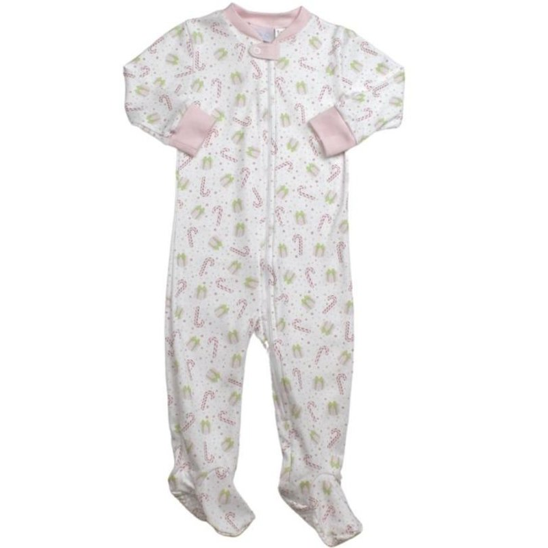 LULLABY SET ONCE UPON A TIME FOOTIE - PINK CHRISTMAS