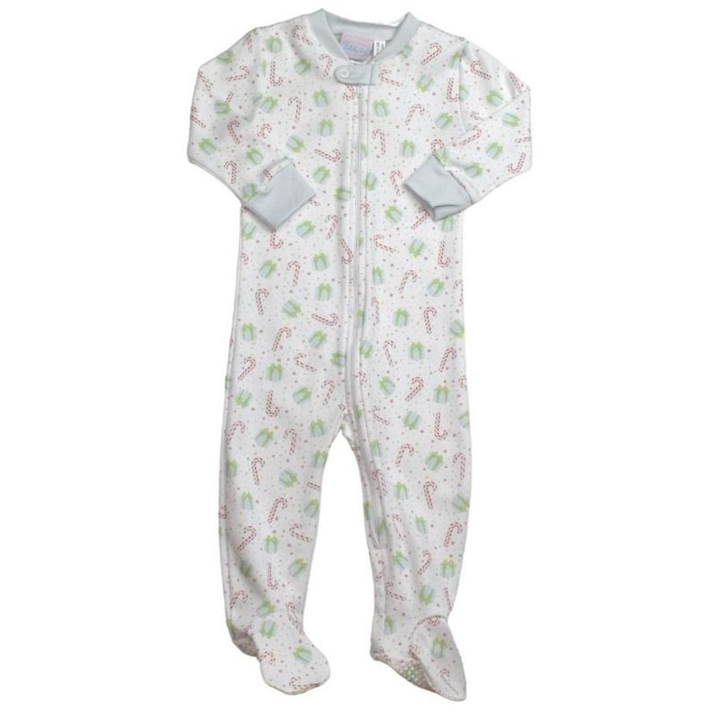 LULLABY SET ONCE UPON A TIME FOOTIE - BLUE CHRISTMAS