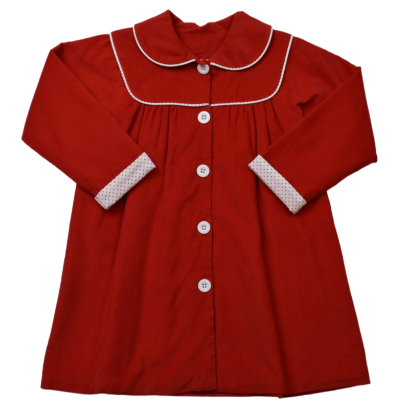 LULLABY SET COLLETTE COAT LS - RED CORD/RED BITTY DOT
