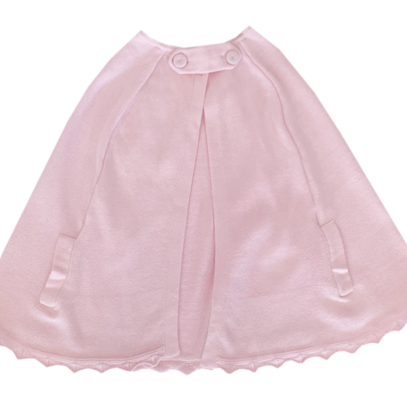 LULLABY SET CLASSIC CAPE - PINK KNIT