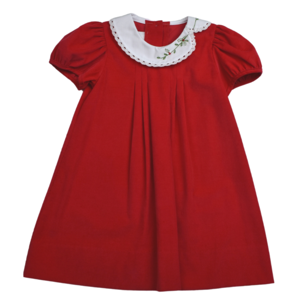 LULLABY SET ELOISE DRESS - RED CORD/HEAVEN SENT