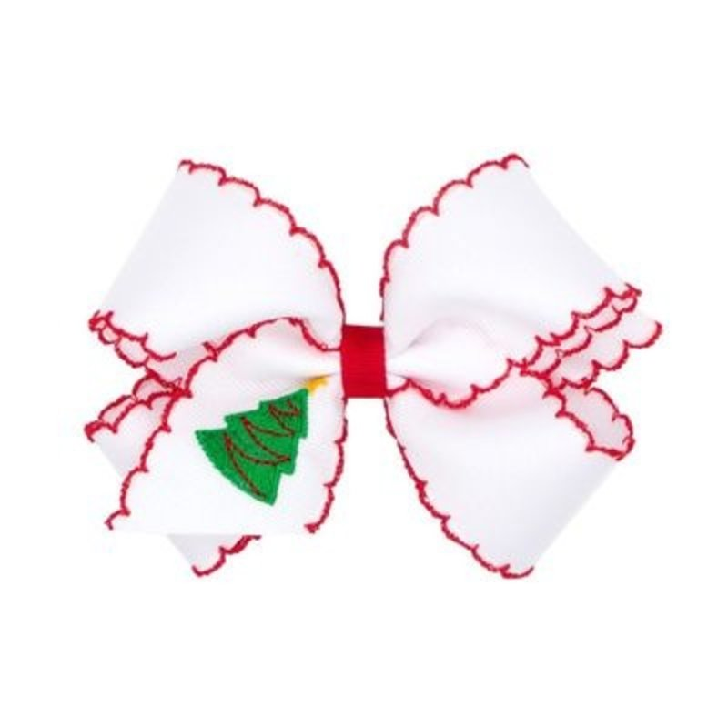 WEE ONES MED GG BOW XMAS EMB TAIL