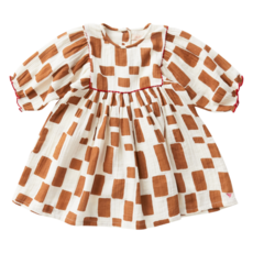 PINK CHICKEN ARIANNA DRESS - GLAZED GINGER PAINT SQUARES