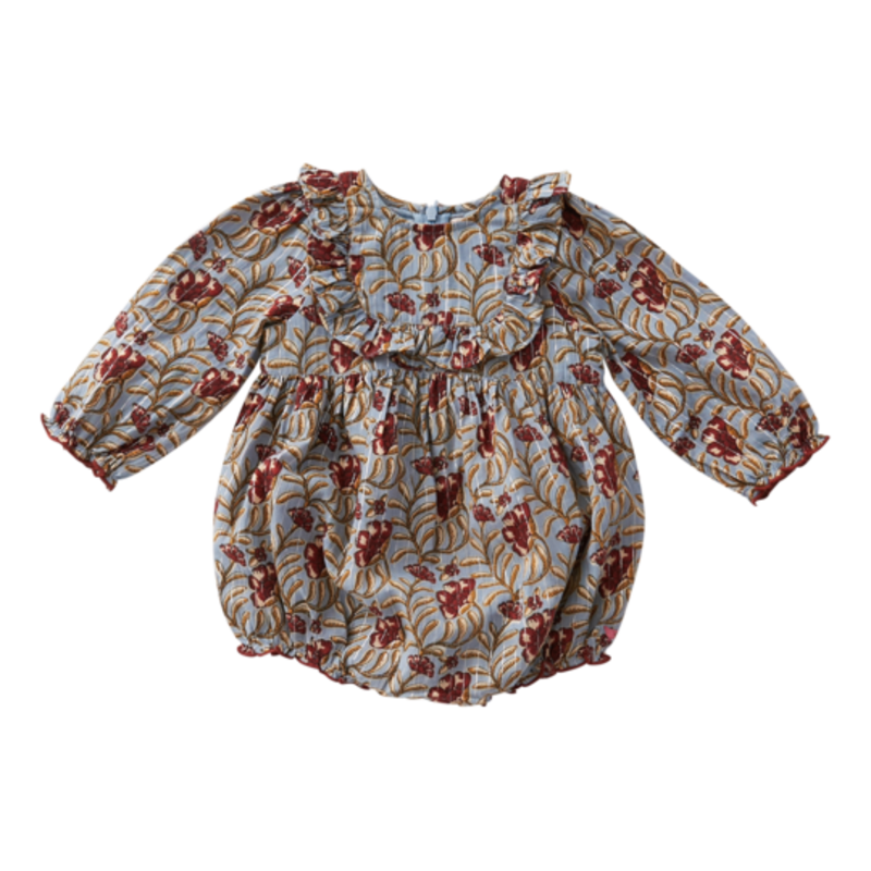 PINK CHICKEN EILEEN BUBBLE - FADED BLUE VINE FLORAL
