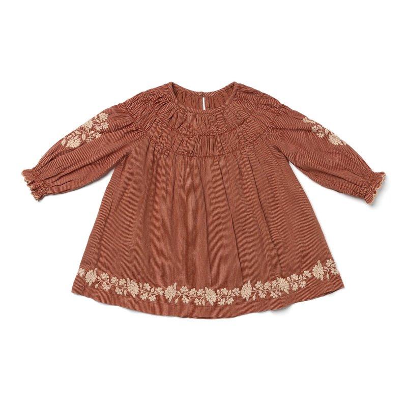 TULIP DRESS - AMBER STRIPES