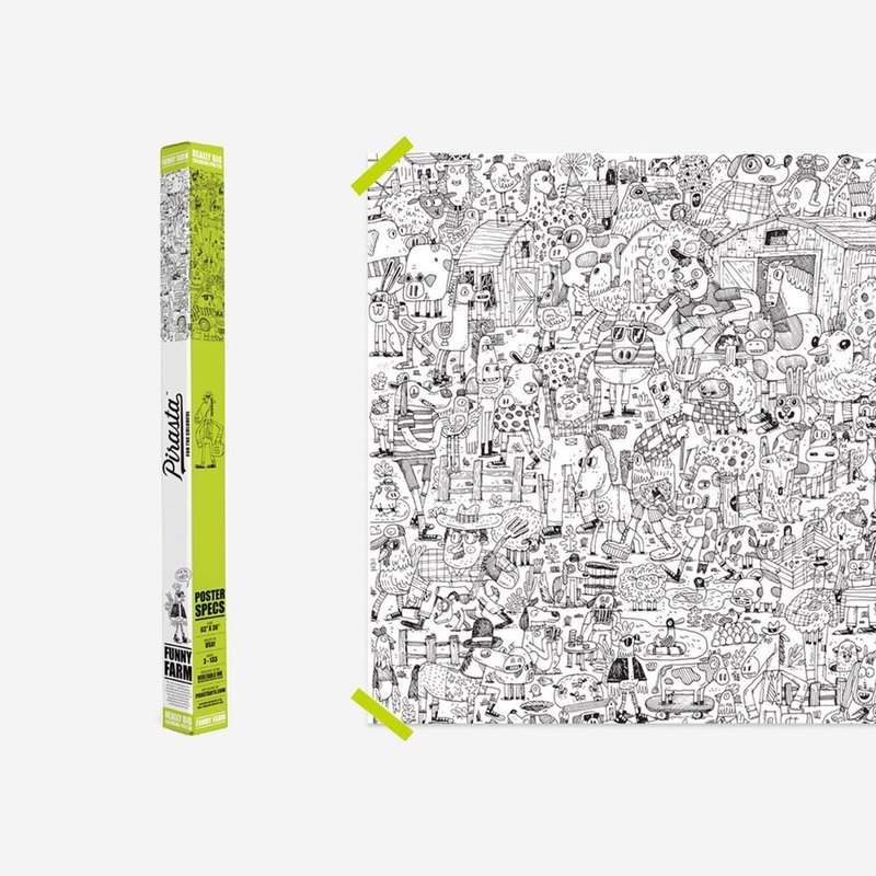 REALLY BIG COLORING POSTER- FUNNY FARM
