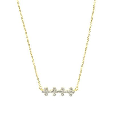 Freida Rothman Clover Bar Pendant Necklace Gold