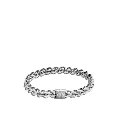 John Hardy Asli Classic Chain Link Bracelet With Diamonds