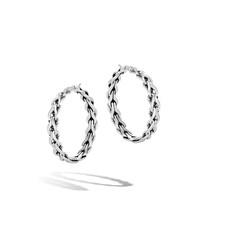 John Hardy Asli Classic Chain Link Medium Hoop Earrings