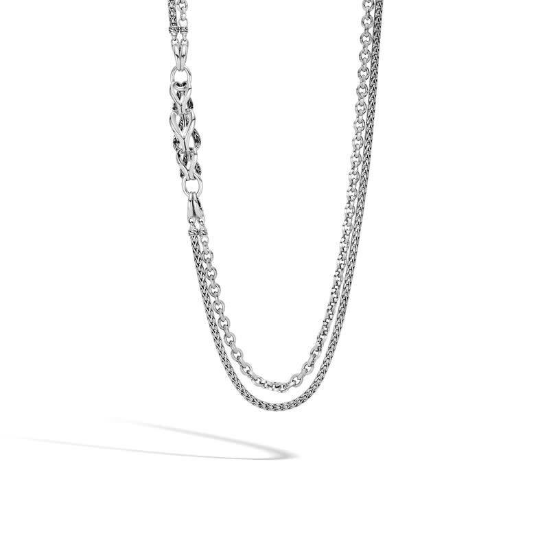 John Hardy Asli Classic Chain Link Station Necklace