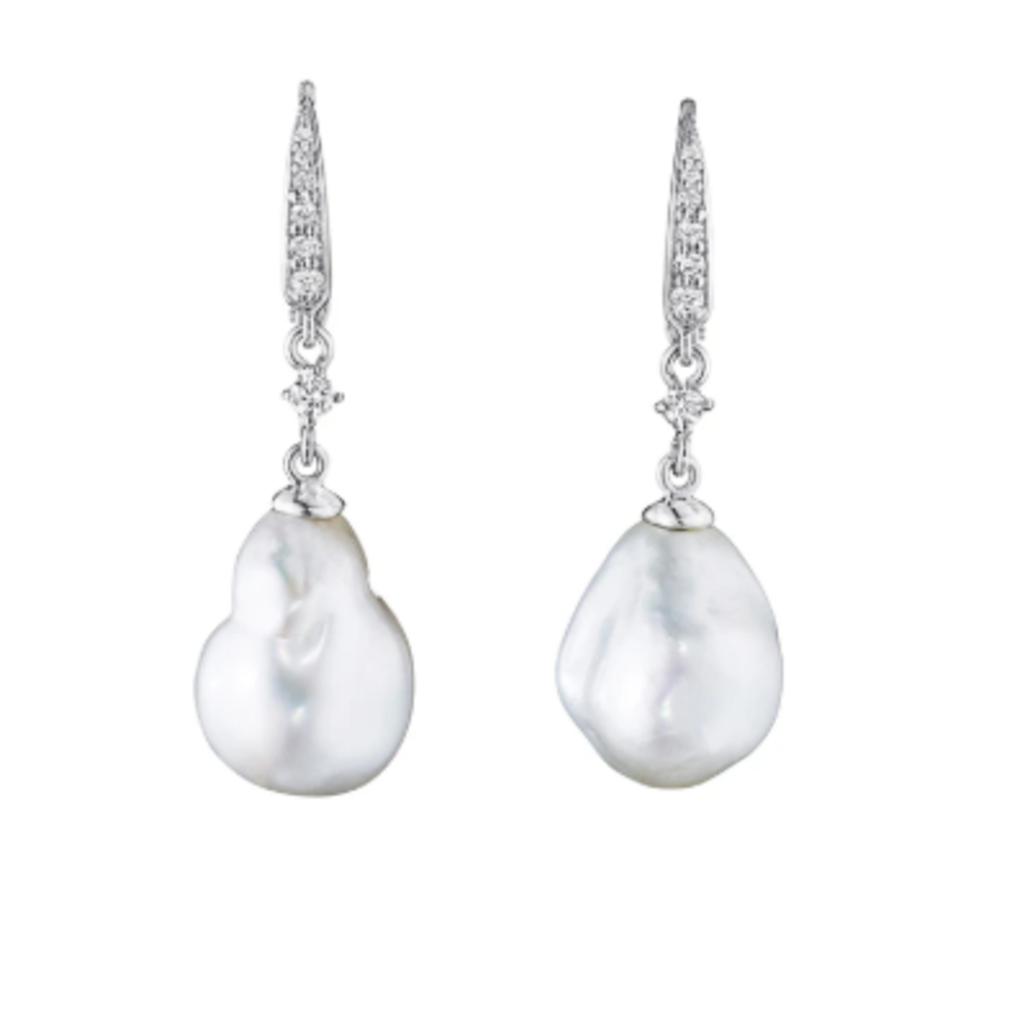 Penny Preville Baroque Pearl Drop Earrings