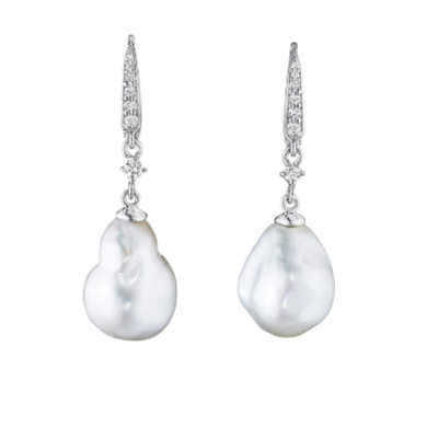 Penny Preville Baroque Pearl Drop Earrings