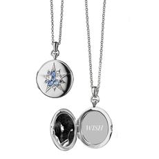 Monica Rich Blue Sapphire Round Locket