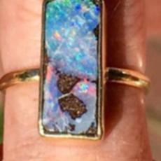 Lauren K Boulder Opal Mischa Ring