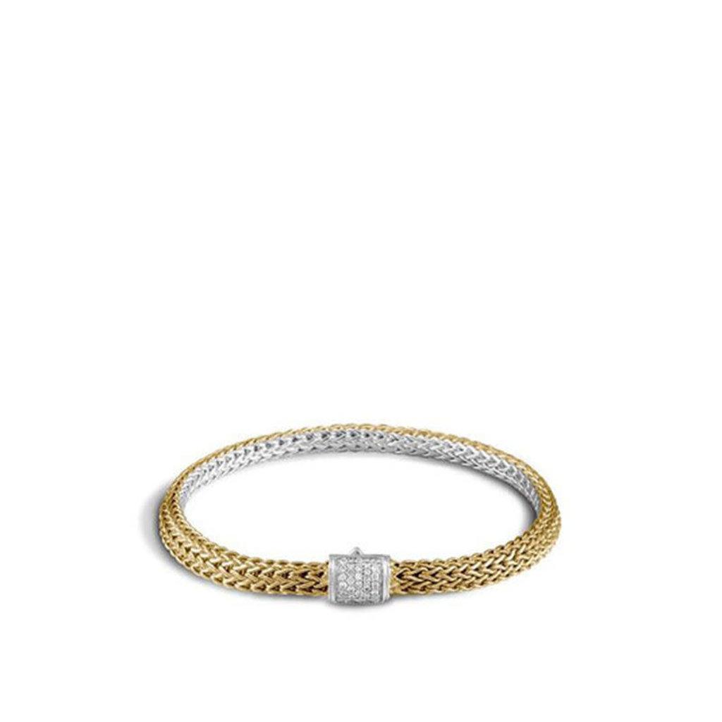 John Hardy Classic Chain 5MM Reversible Bracelet With Diamonds
