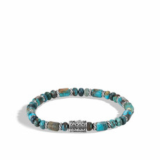 John Hardy Classic Chain 6MM Bead Bracelet With Mixed Turquoise