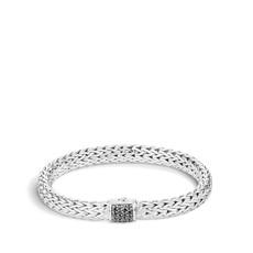 John Hardy Classic Chain 7.5MM Bracelet With Black Sapphire