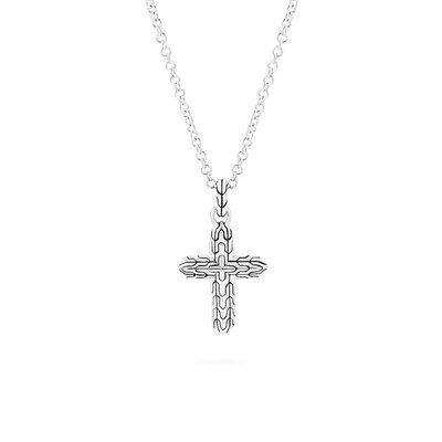 John Hardy Classic Chain Cross Pendant Necklace