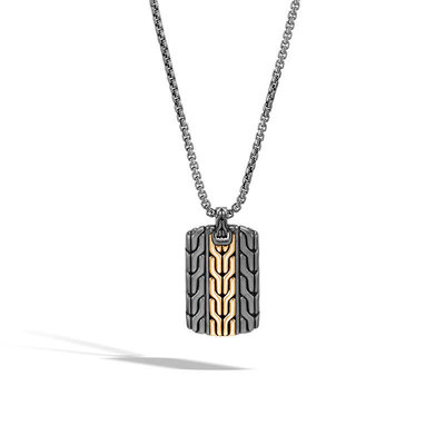 John Hardy Classic Chain Dog Tag Necklace