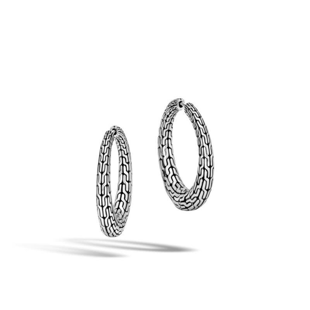 John Hardy Classic Chain Graduated Small Hoop Earring